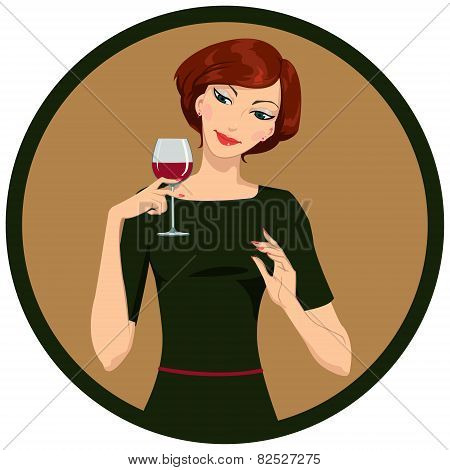 girl drinking white wine