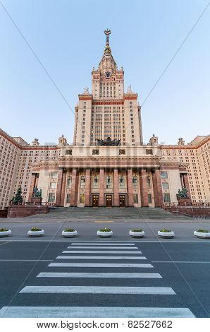 The main building of Lomonosov Moscow State University on Sparrow Hills