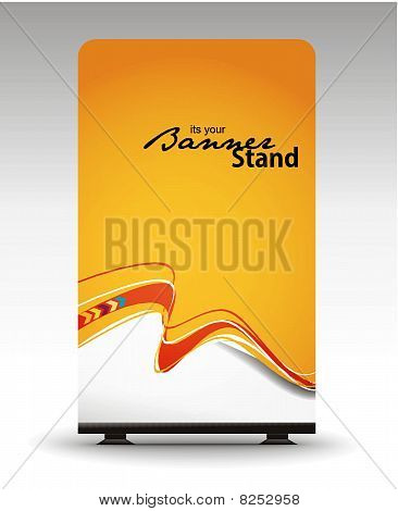 una pantalla enrollable con diseño de plantilla de banner stand