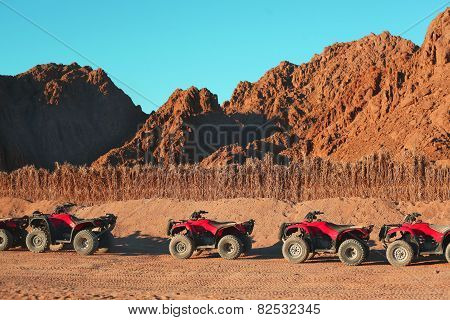 Quad Bike Safari Trip Into Desert In Egypt