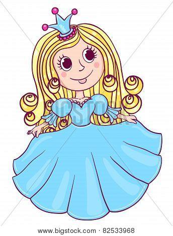 Little Cute Princess Blue