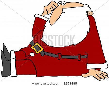 Puzzled Santa Sitting