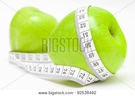 Green Apple With Measurementr