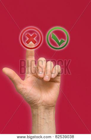 arm press on button