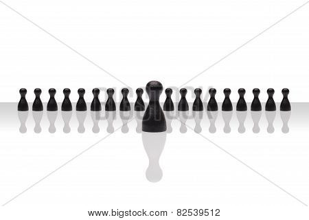 Business Concept Leader Step Forward Group Small Black Gradient