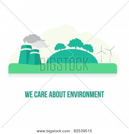 Environmental Care Vector Image