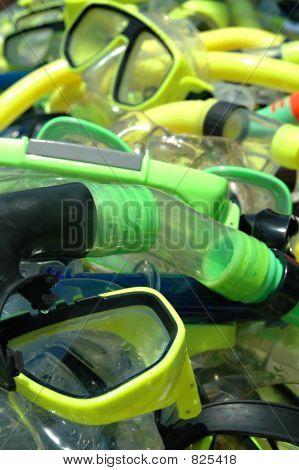 Diver masks and snorkels