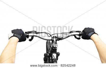 Riding on a bike