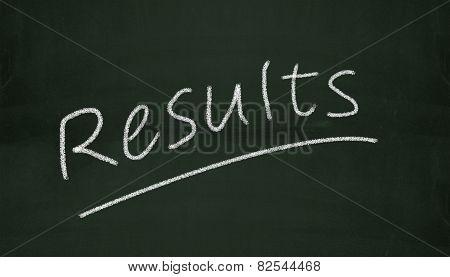 Chalkboard Results Illustration