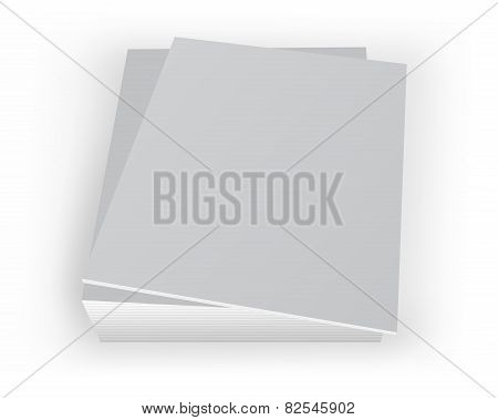 Stack Of Mockup Magazines With Blan Cover