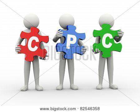 3D Man Puzzle Piece - Cpc