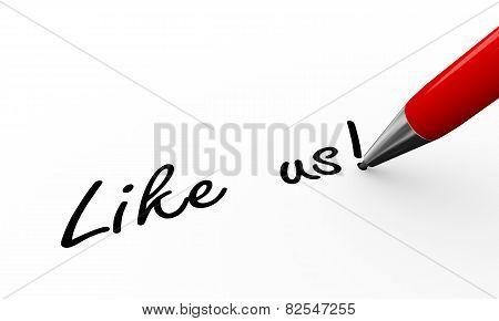 3D Pen Writing Like Us Illustration