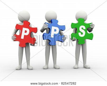 3D Man Puzzle Piece - Pps