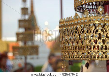 Gold lace Buddhism