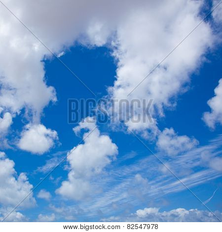 Sky With Different Types Of Clouds, Square