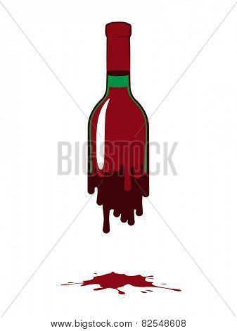 fluid bottle of red wine