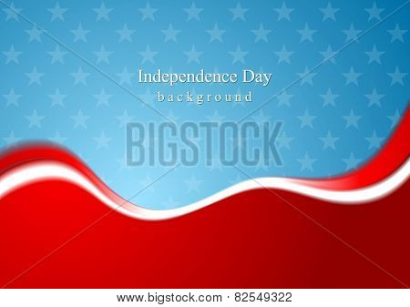 Abstract USA colors background. Vector design