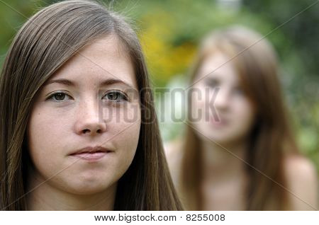 Teenage Girls Closeup