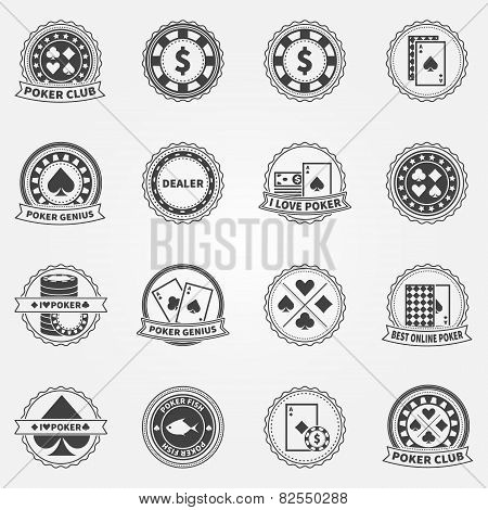 Poker Labels and Icons set