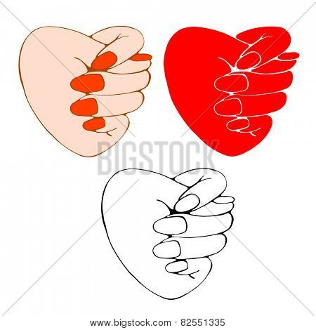 Reject of reciprocity in love. Heart shows a fig. Concept image.