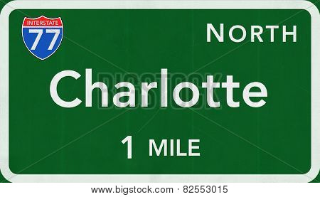 Charlotte USA Interstate Highway Sign