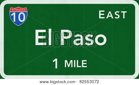El Paso USA Interstate Highway Sign
