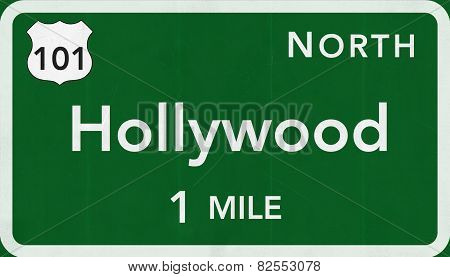 Hollywood USA Interstate Highway Sign