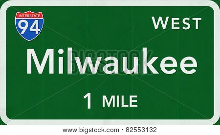 Milwaukee USA Interstate Highway Sign
