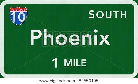 Phoenix USA Interstate Highway Sign