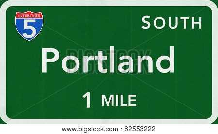 Portland USA Interstate Highway Sign