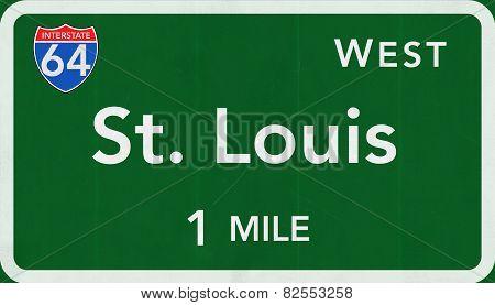 Saint Louis USA Interstate Highway Sign