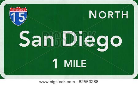 San Diego USA Interstate Highway Sign