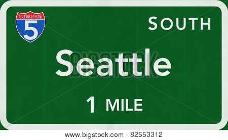 Seattle USA Interstate Highway Sign