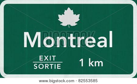 Montreal Canada Transcanada Highway Road Sign