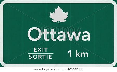 Ottawa Canada Transcanada Highway Road Sign