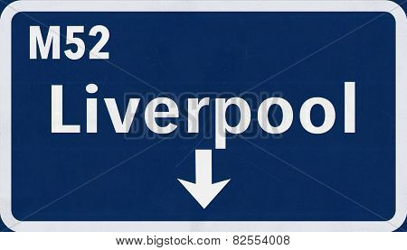 Liverpool Highway Road Sign