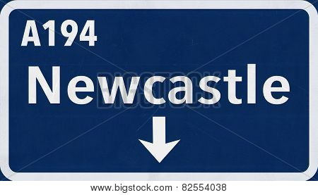 Newcastle Highway Road Sign