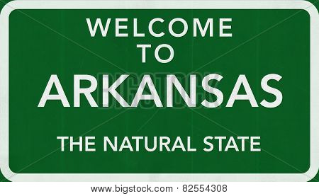 Arkansas USA Welcome to Highway Road Sign