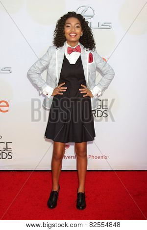LOS ANGELES - FEB 6:  Yara Shahidi at the 46th NAACP Image Awards Arrivals at a Pasadena Convention Center on February 6, 2015 in Pasadena, CA