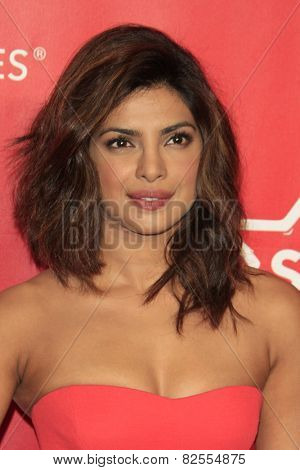 LOS ANGELES - FEB 6:  Priyanka Chopra at the MusiCares 2015 Person Of The Year Gala at a Los Angeles Convention Center on February 6, 2015 in Los Angeles, CA