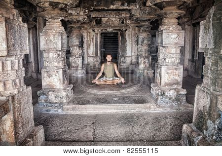 Meditation In Hampi Temple