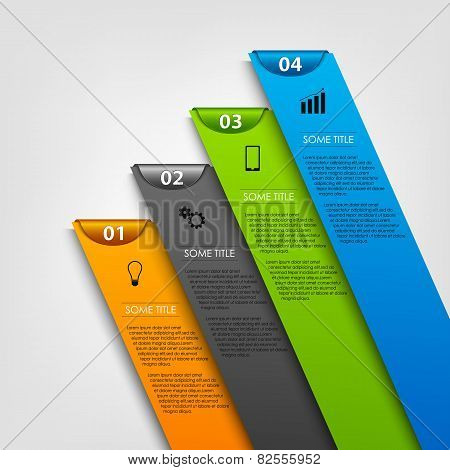 Info Graphic With Colored Design Stripes