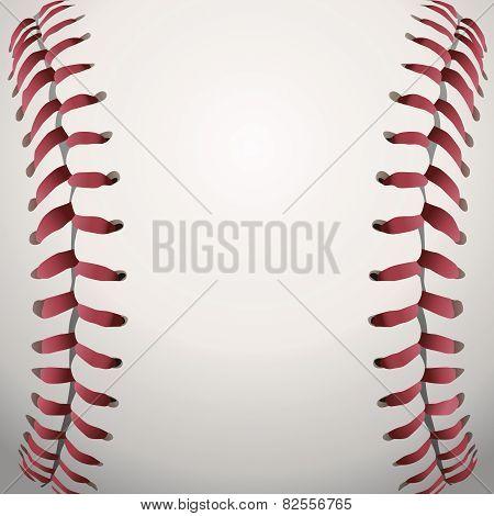 Baseball Laces Closeup Background Illustration