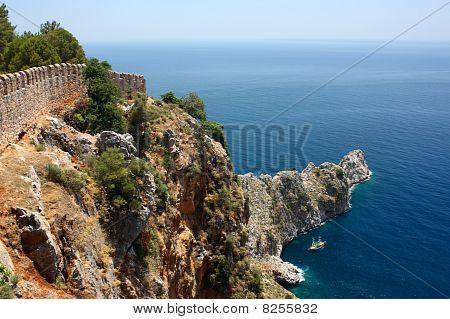 Rock Cape Near Alanya Turkey