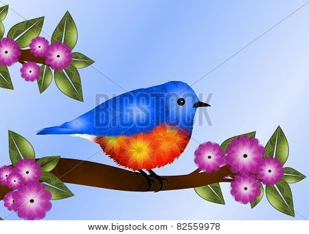Bluebird Greeting Card Design