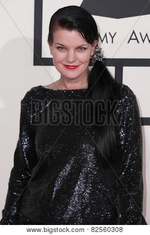 LOS ANGELES - FEB 8:  Pauley Perrette at the 57th Annual GRAMMY Awards Arrivals at a Staples Center on February 8, 2015 in Los Angeles, CA