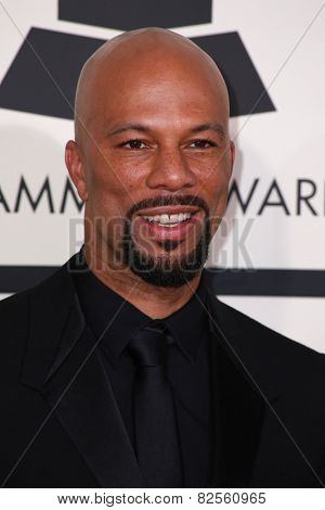 LOS ANGELES - FEB 8:  Common at the 57th Annual GRAMMY Awards Arrivals at a Staples Center on February 8, 2015 in Los Angeles, CA