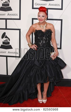 LOS ANGELES - FEB 8:  Kaya Jones at the 57th Annual GRAMMY Awards Arrivals at a Staples Center on February 8, 2015 in Los Angeles, CA
