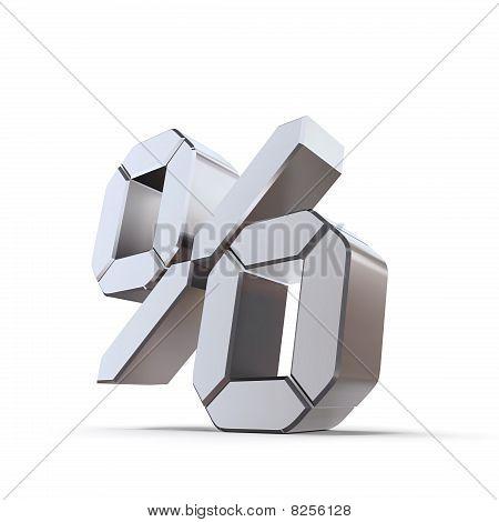 Metallic Percentage Symbol - Lcd Look