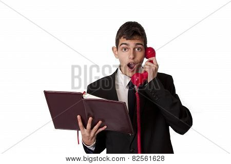businessman talking on the pone